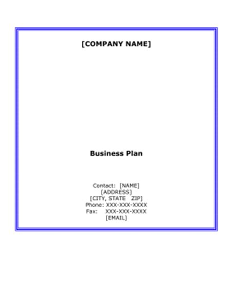 Business plan for a bar template